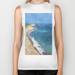 Birth Place Of Venus Aphrodite Rocks Cyprus Biker Tank