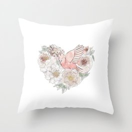 Bird of Paradise #floral Throw Pillow