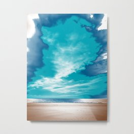 photography manipulated with various colors of relaxed landscape of a beach Metal Print