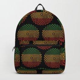 Rasta Flower of Life Backpack