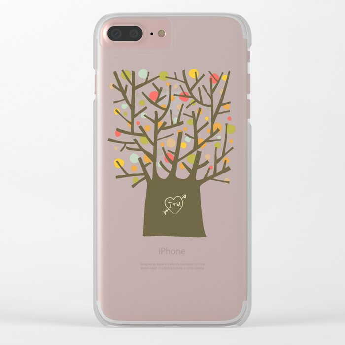 """The """"I love you"""" tree Clear iPhone Case"""
