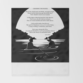 Crossing the Water (poem) by Sylvia Plath Throw Blanket
