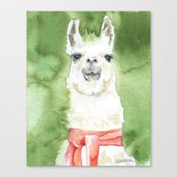 llama Canvas Prints featuring Llama by Susan Windsor