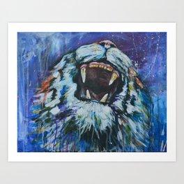Tigers Roar Art Print
