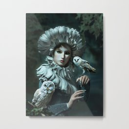 Owls Talk - dedicated to thee_owl_queen Metal Print