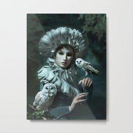 Owls Talk - dedicated to thee_owl_queen Metal Print