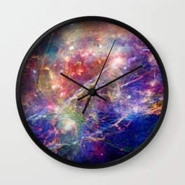 Galactic Mountain Wall Clock