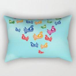 Vintage Love birds Rectangular Pillow