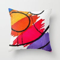 clown Throw Pillows featuring Clown by Alexandre Reis