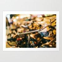 bikes Art Prints featuring Bikes by GF Fine Art Photography