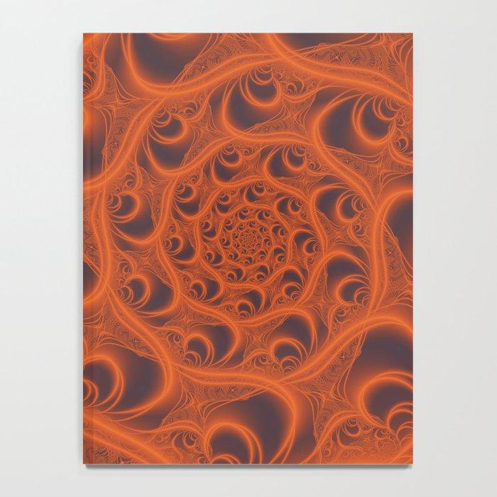Fractal Web in Halloween Orange Notebook
