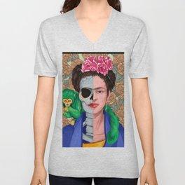 Frida Skull Unisex V-Neck
