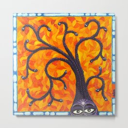 Medusa and the Tree of Life Metal Print