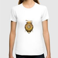 submarine T-shirts featuring Steampunk submarine by valzart