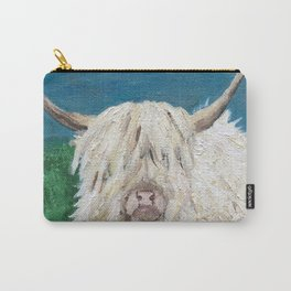 A Sweet Shaggy Highland Coo Carry-All Pouch