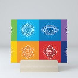 Chakras of human Mini Art Print