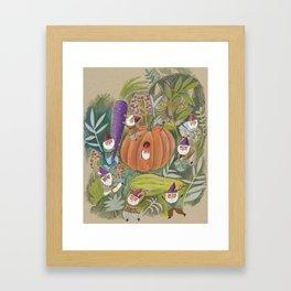 Heavy Lifting Garden Gnomes Framed Art Print