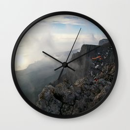 Freedom in the mountains Wall Clock