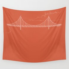San Francisco by Friztin Wall Tapestry