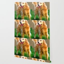 Golden Retriever - Happy Dog Wallpaper