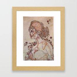 Anatomy of a Pinup Framed Art Print