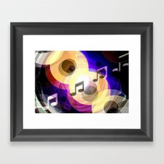 Music and painting. Framed Art Print