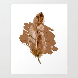 "Design ""Feather chocolat"" Art Print"