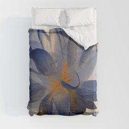 Midnight Blue Polka Dot Floral Abstract Comforters