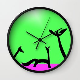 Les Animaux No. 4 of Series 4 Wall Clock