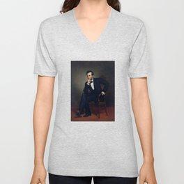 President Abraham Lincoln Painting Unisex V-Neck
