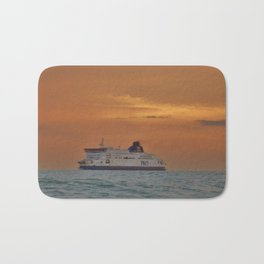Ferry At Sunrise Bath Mat
