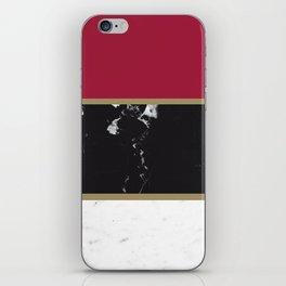 Marble Mix Stripes #2 #black #white #red #gold #decor #art #society6 iPhone Skin