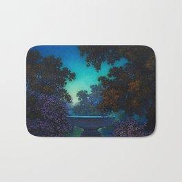Blue Fountain at Twilight by Maxfield Parrish Bath Mat