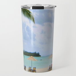 A Dreamy Day at a Tahitian Beach, Bora Bora Travel Mug