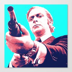 Fathers Day - Michael Caine screen print Canvas Print