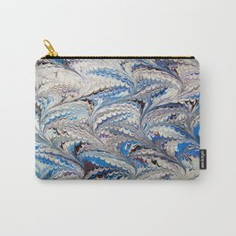 Blue Nonpareil Water Marbling Carry-All Pouch