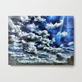 In Clouded Blue We Rendezvous Metal Print
