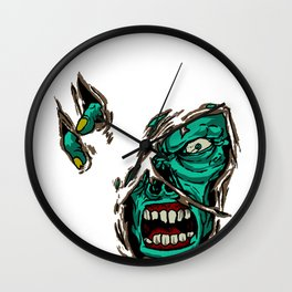 Zombie Zombieland Monster Beast Rotter Undead Gift Wall Clock