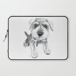 Schnozz the Schnauzer Laptop Sleeve