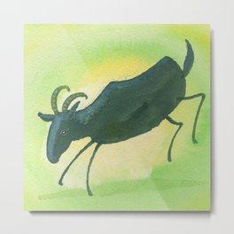 Capricorn Zodiac Horoscope Painting Metal Print