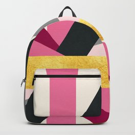 PURPLE GOLD BARS Backpack
