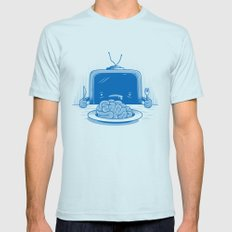 Brain eater SMALL Light Blue Mens Fitted Tee