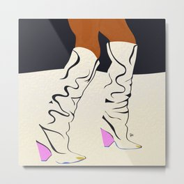these boots are made for walking Metal Print