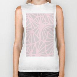 Handmade minimal geometric pattern - Pink & Taupe #decor Biker Tank