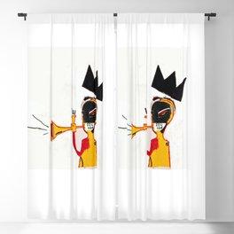 Trumpet Homage to Basquiat Blackout Curtain