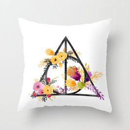 Life and Deathly Hallows Throw Pillow