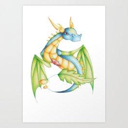 BlueLeaf Art Print