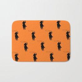 Cowgirl Roper Silhouette Pattern Bath Mat
