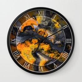 Earth treasures - patters of yellow and orange jaspis Wall Clock