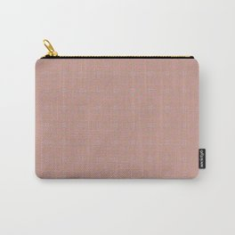 Subtle Peach Gothic Cross and Diamond Tile Pattern Carry-All Pouch